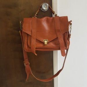 Handbags - Leather Messenger Satchel Bag